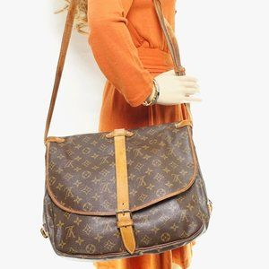Auth Louis Vuitton Saumur 35 Crossbody #3405L20